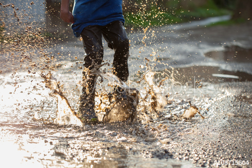 Splashing in the Mud is Fun!